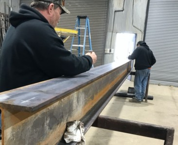 Custom Metal Fabrication Beam - Prather Metalworks