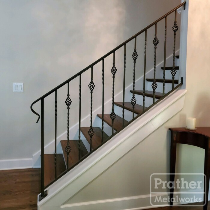 10 Franklin Standard Handrail With Knuckles Interior