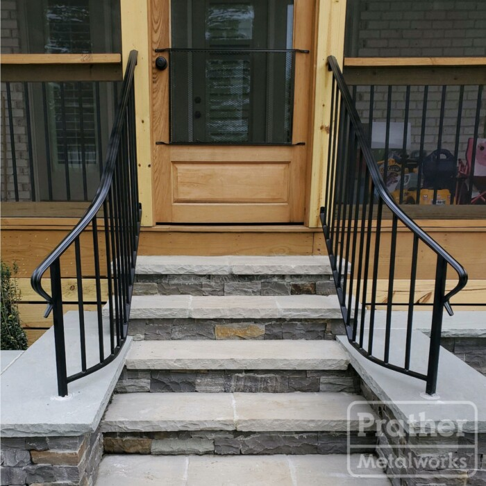11 Greenhills Standard Iron Handrail Curved Exterior